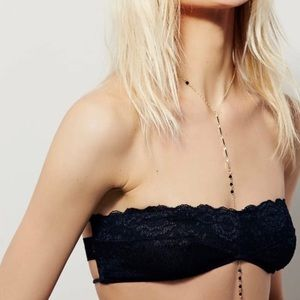 NWT Free People Small Black Lace Bandeau Bralette